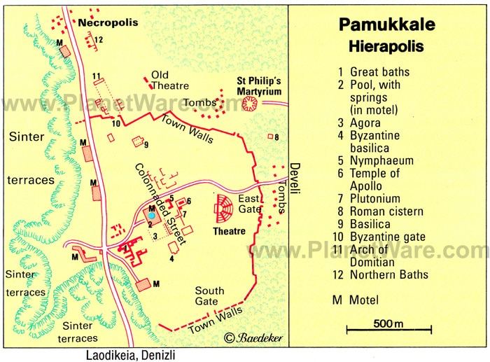 hierapolis-pamukkale-map