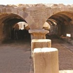 Covered market found in Tripolis ancient city in Denizli